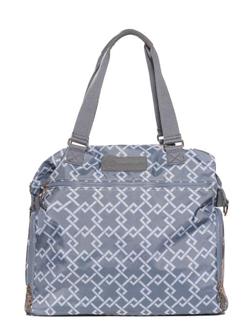 sarah wells lizzy breast pump bag gray