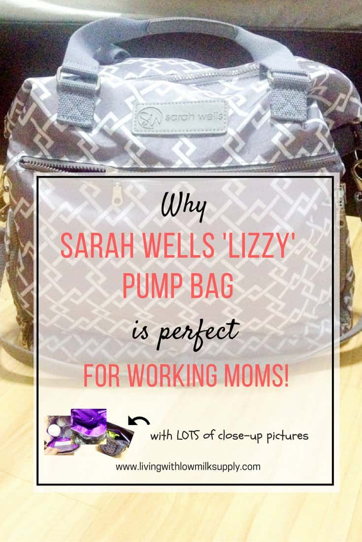 Thinking of buying a pump bag? Find out more details and close up pictures in this Sarah Wells Lizzy breast pump bag reviews. Perfect for working moms.