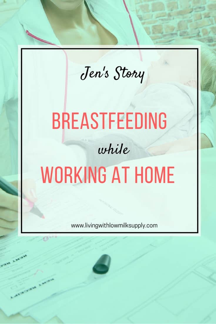 Wondering how to balance between breastfeeding and working at home? Jen shares her story of working at home while breastfeeding her newborn. A lot of greats tips inside.