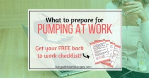 Do you plan to return to work after your maternity leave ends? Find out all things you need to prepare for pumping at work in this free checklist