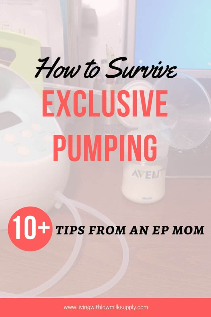 Are you exclusively pumping? Learn 10+ exclusive pumping tips from a mom who has done it for one year!