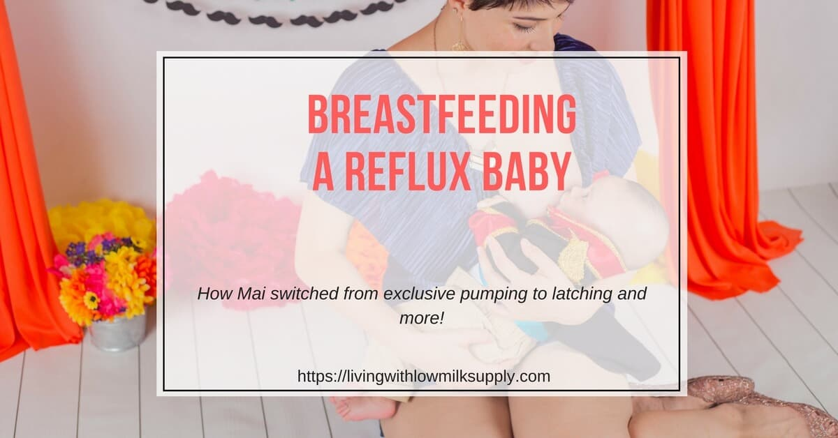 breastfeeding baby with reflux