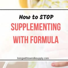 how to stop supplementing with formula