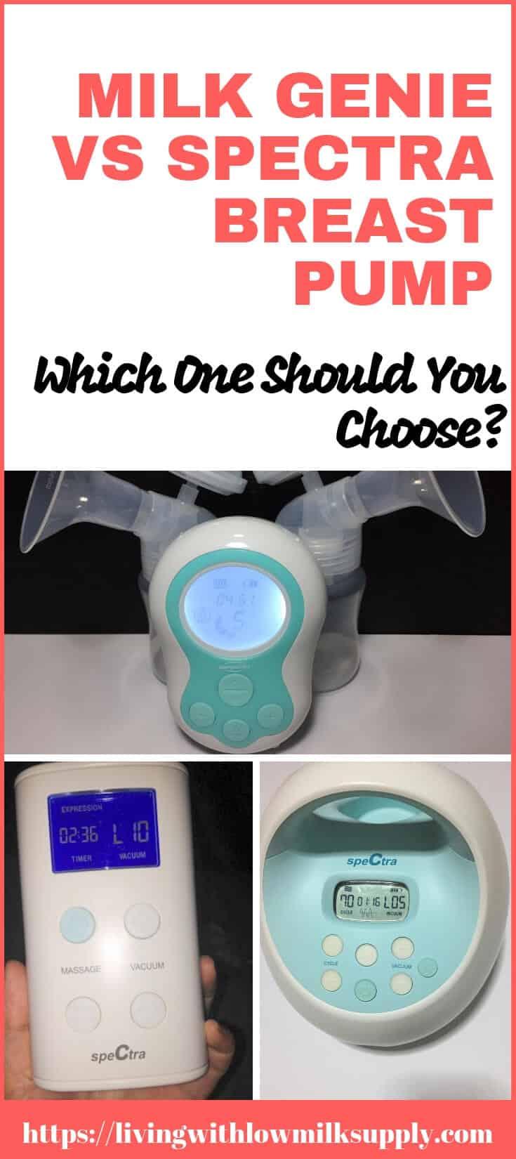 pumpables milk genie vs spectra 9+ and s1 breast pump