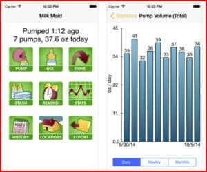 milk maid 2- best pumping apps for pumping moms