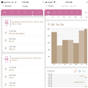 newborn log - best breast pumping apps for pumping moms