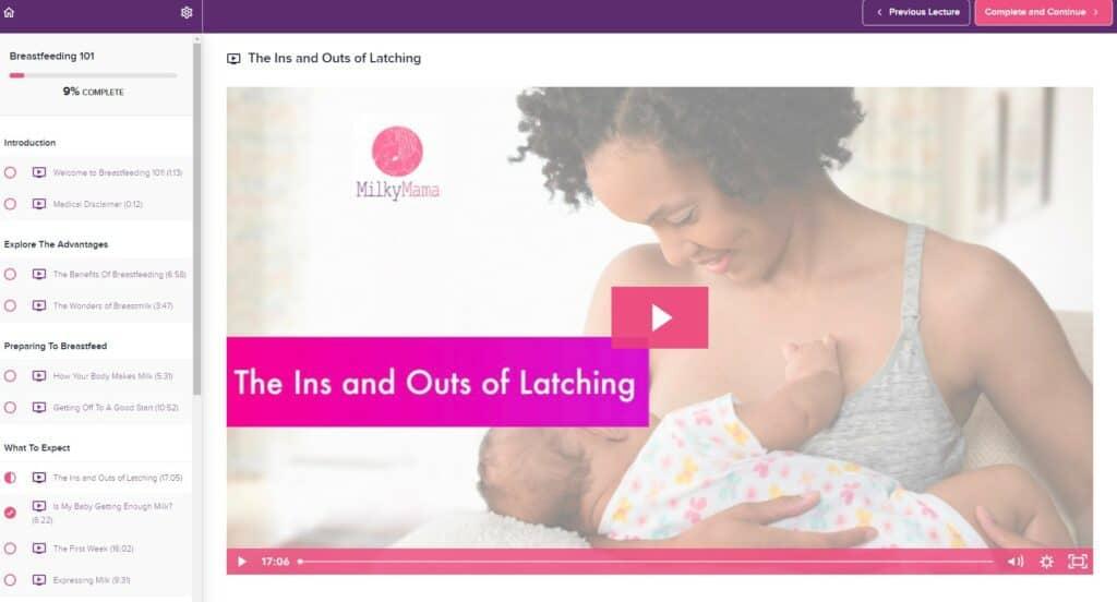 milky mama breastfeeding class
